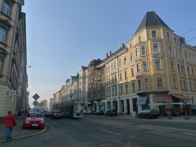 """alt=""""Straßenraum Georg-Schumann-Straße Leipzig"""""""