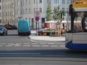 Wochenmarkt auf dem Huygensplatz