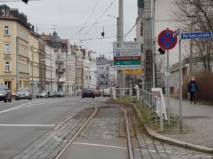 Georg-Schumann-Straße aus Richtung Wartenburg-Straße