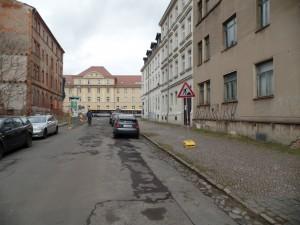 Laubestraße vor dem Umbau