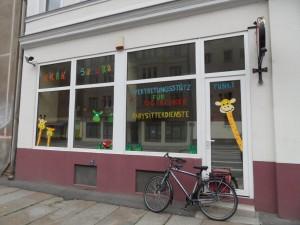 ... und einen fröhlich-bunten Vertretungsstützpunkt für Tageskinder in der Georg-Schumann-Straße 10.