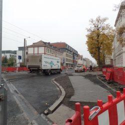Straßenbau S-Bahn-Brücke