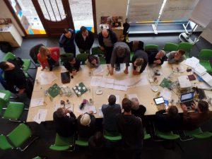 Workshop-Atmosphäre im Infozentrum