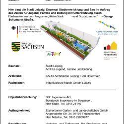 Bauschild Renftplatz / Schumann Magistrale 2017