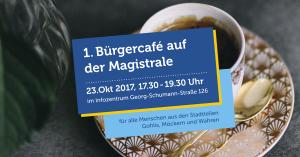 1. Bürgercafé auf der Georg-Schumann-Straße