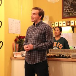 Begrüßung durch die Inhaber des Jeepney Café, Rico Ludwig (l.) und Janellsa G. Ludwig. ©Magistralenmanagement Georg-Schumann-Straße / Jessica Sauter