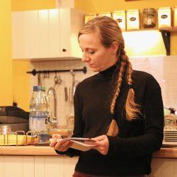 Elisabeth Hauck (Amt für Wirtschaftsförderung) stellt das Mittelstandsförderprogramm der Stadt Leipzig vor. ©Magistralenmanagement Georg-Schumann-Straße / Jessica Sauter