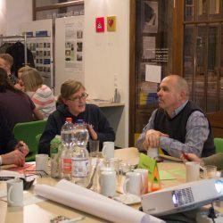 Diskussion und Austausch bei denn Themen Stadtraum und Verkehr sowie Ökologie ©Magistralenmanagement Georg-Schumann-Straße/Maria Köhler