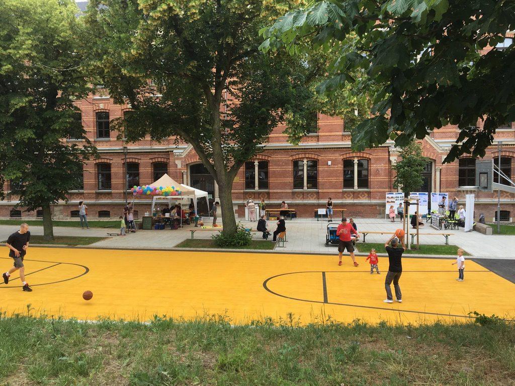 """Kinder- und Familienfest am 2. Juni 2018 auf dem """"Renftplatz"""". Foto: Magistralenmanagement Georg-Schumann-Straße/Talina Rinke"""